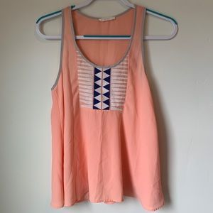 Salmon blouse/tank top